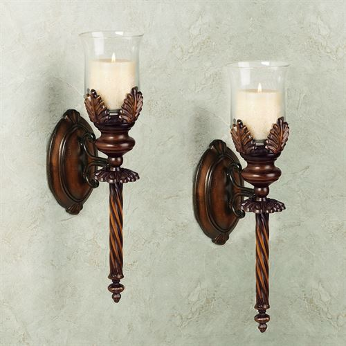 Emmerson Wall Sconce Pair Gold Brown