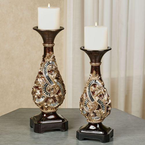 Daniella Candleholders Multi Metallic Set of Two
