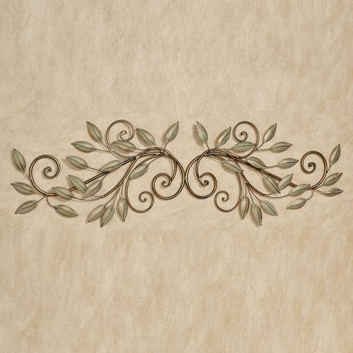 Leaf Reverie Door Topper Golden Bronze