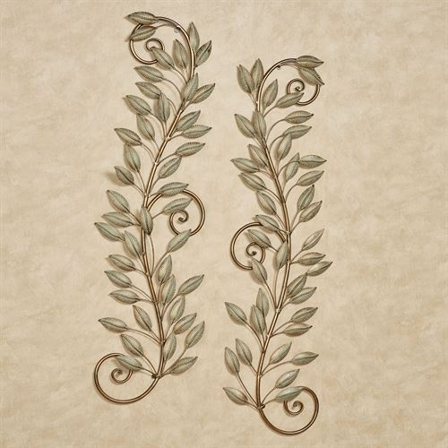 Leaf Reverie Wall Accents Golden Bronze Set of Two