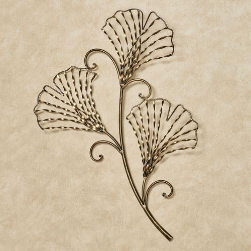 Aria Ginkgo Leaf Wall Art Gold