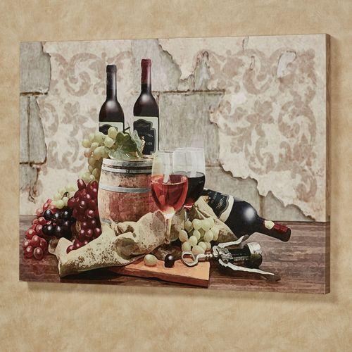 Wine Gathering Canvas Wall Art Multi Warm