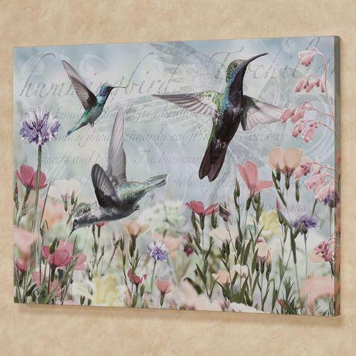 Hummingbird Haven Canvas Wall Art Multi Cool