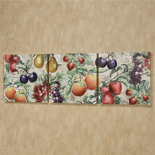 Natures Bounty Canvas Triptych Wall Art Multi Bright Set of Three