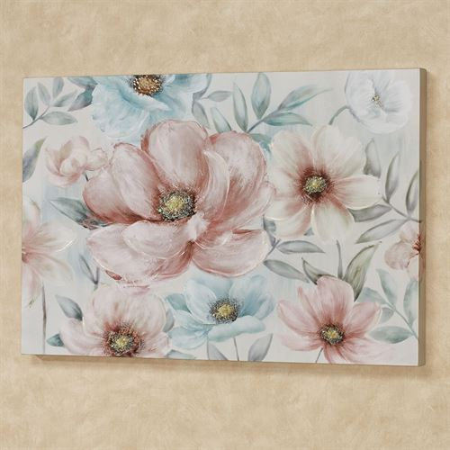 Simply Sweet Floral Canvas Wall Art Multi Pastel