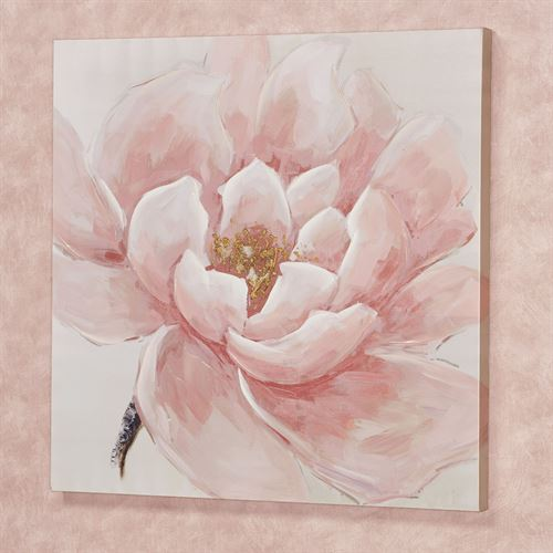 Make Me Blush Floral Canvas Wall Art