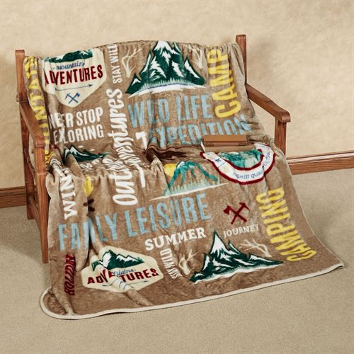 Camping Throw Blanket Multi Warm