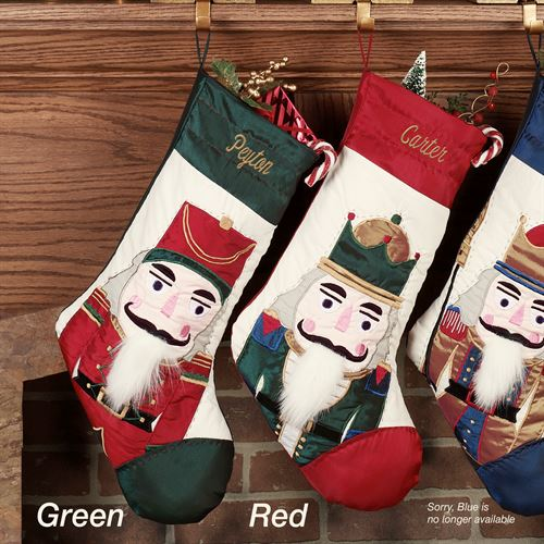Nutcracker Hunter Green Stocking