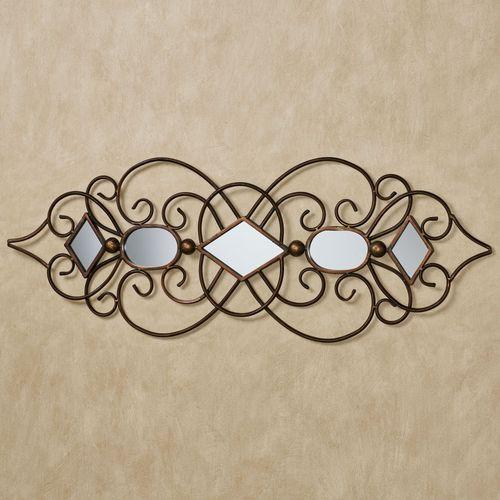 Sonatina Mirrored Wall Art Bronze