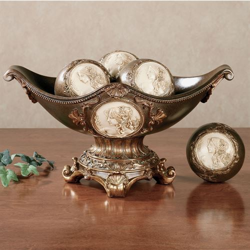 Rossella Cameo Bowl with Orbs