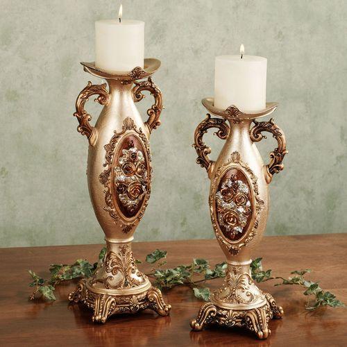 Golden Rose Candleholder S