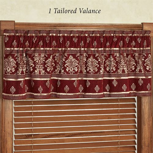 Dynasty Tailored Valance Merlot 72 x 17