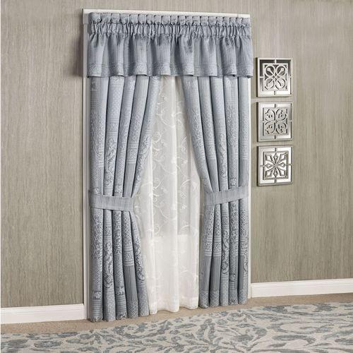 Wilmington Tailored Curtain Pair Chrome 98 x 84