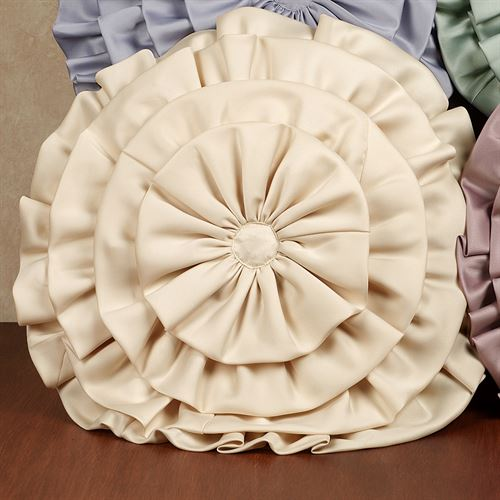 Ballerina Ruffled Round Pillow