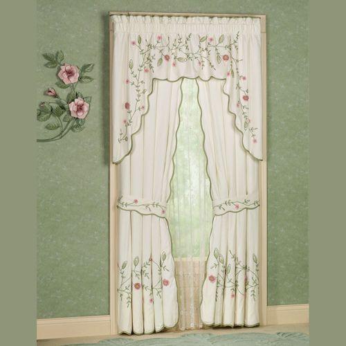 Posy Tailored Curtain Pair Ivory 84 x 84