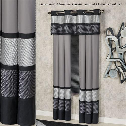 Omega Tailored Grommet Valance Dark Gray 60 x 18