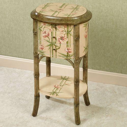 Bountiful Bamboo Side Table Beige