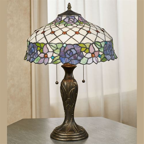 Rosaleen Stained Glass Table Lamp Multi Pastel