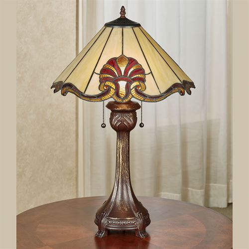 Blythe Stained Glass Table Lamp Ruby