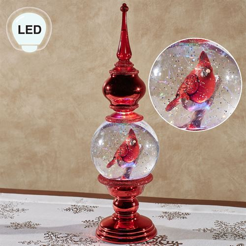 Shimmer Cardinal Lighted Finial Red