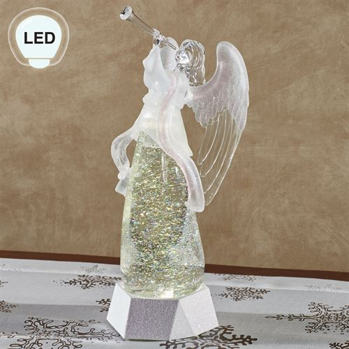 Lighted Shimmer Angel Figurine Clear