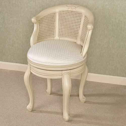 Belhurst Swivel Vanity Chair Antique Ivory