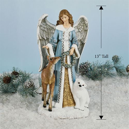 Angel with Furry Friends Figurine Multi Cool