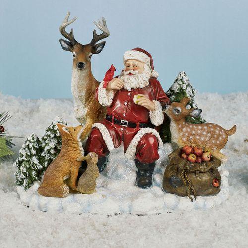 Santa and Friends Figurine Multi Warm