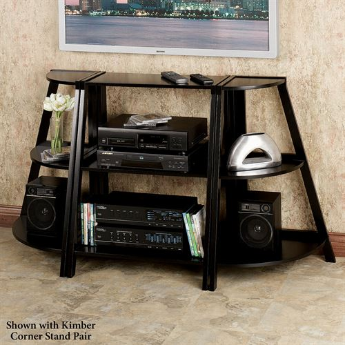 Kimber Short Ladder Shelf Only Black Three Tier