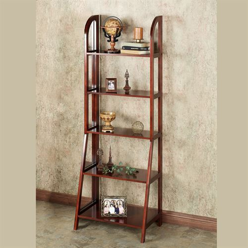 Kimber Tall Ladder Shelf Only Classic Cherry Five Tier