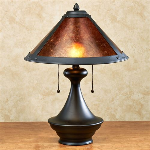Donovyn Table Lamp Matte Black Each with CFL Bulbs
