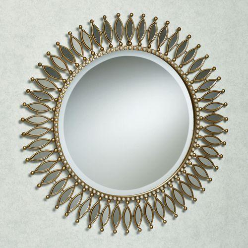 Makayla Round Wall Mirror Gold