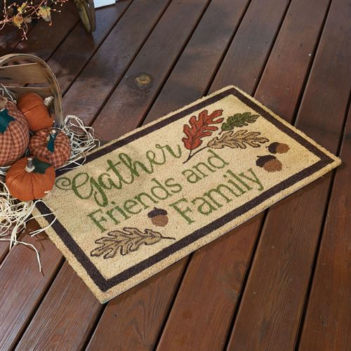 Gather Friends Doormat Multi Earth