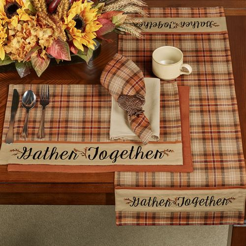 Gather Together Border Table Runner Terra Cotta 13 x 36