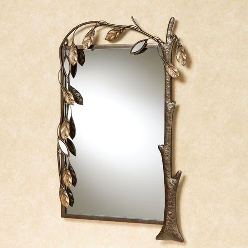 Marielle Tree Wall Mirror Brown