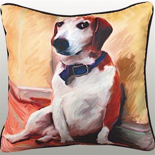 Being a Beagle Pillow Multi Warm 18 Square
