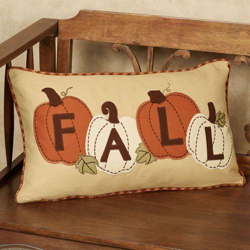 Pumpkin Patch Decorative Pillow Terra Cotta