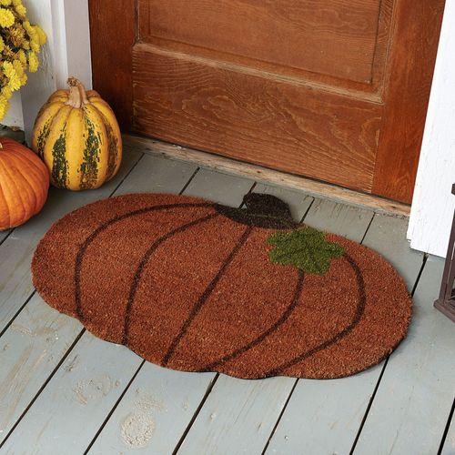 Fall Pumpkin Coir Doormat Terra Cotta