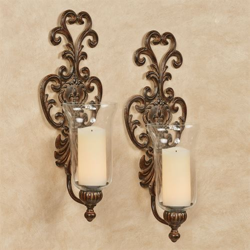 Asciano Wall Sconce Pair Bronze