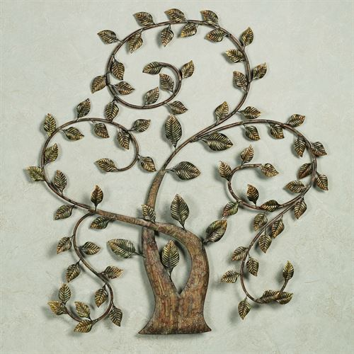 Ailanthus Metal Wall Sculpture Brown