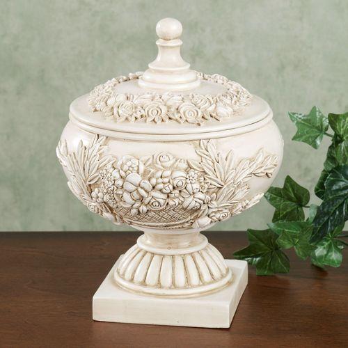 Britannia Covered Jar Antique Ivory