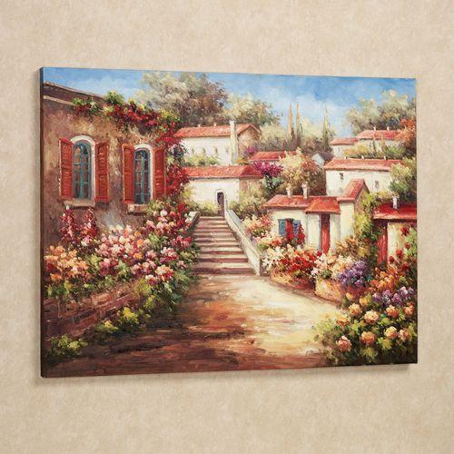 Natures Garden Canvas Wall Art Multi Jewel