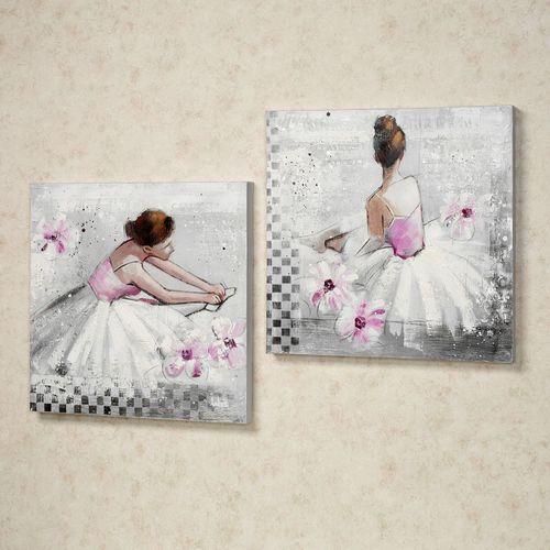 Reflective Moments Canvas Art Set White Set of Two