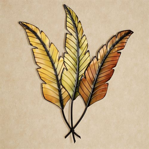 Banana Leaves Metal Wall Art Multi Earth