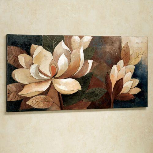 Magnolia Glow Floral Canvas Wall Art