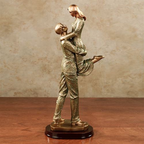 Love You Always Figurine Verdi Gold