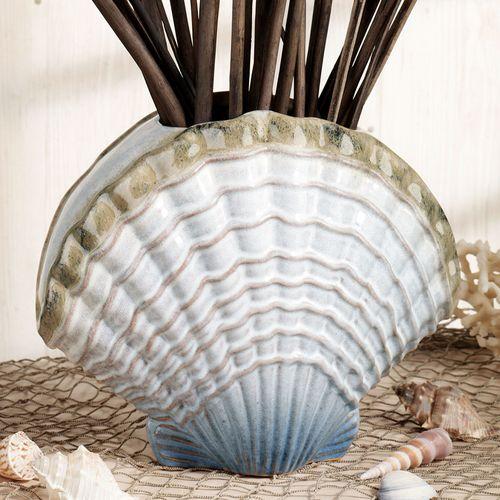 Coastal Clam Shell Table Vase Multi Cool