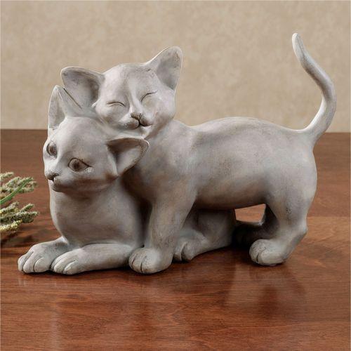 Lovely Kittens Table Sculpture Gray