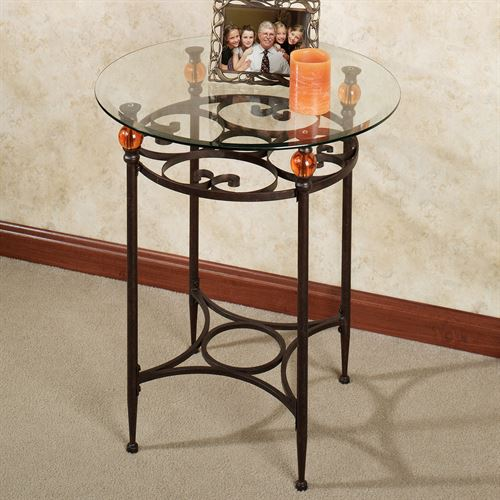 Adele Round Accent Table Bronze