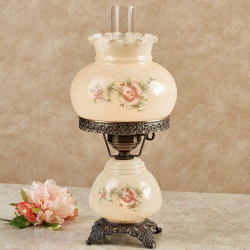 Emmas Rose Table Lamp Amber Small